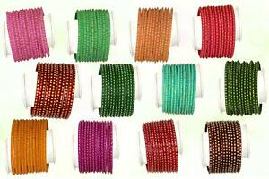 Indian Glass Bangles Set Dot Pattern Bollywood Style Wedding Favour