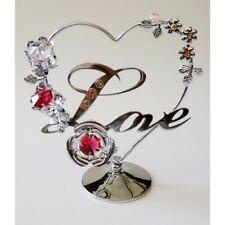 Crystocraft Love Heart Ornament with Swarovski Crystals - Stunning Figurine