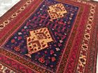 COLLECTORS' PIECE Vintage Very Hig Quality Ghumcha Gul Tribal Remote Area Carpet