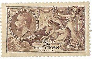 King George V 1913 -1918 2/6 Brown Seahorses Mint