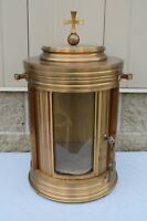 """Older Solid Bronze Exposition Tabernacle 23H x 13""""dia. Church Safe (AHB902)"""