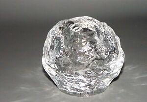 Kosta Boda Schneeball Snowball Windlicht ca 9 cm Dm 7 cm h.