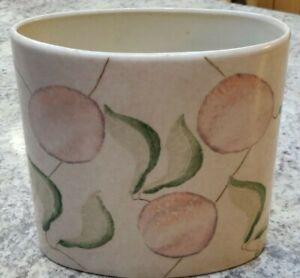 Beige Ceramic Vase Planter With Fruit / Plum Ornaments