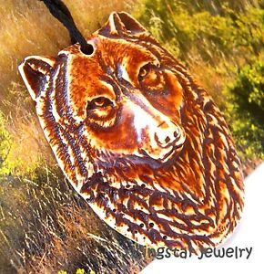 Men's Cool Intelligent Wolf Totem Embossed Fashion Characters Pendant Necklace