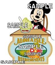 Disney World Aloha Isle Dole Whip Scrapbook Paper Die Cut Piece
