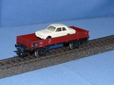 Marklin 4504 DB Flat Car with Ford Taunus 17M white