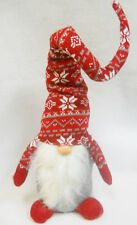 """Christmas GNOME Red Tall Hat Scandinavian Tomte or Nisse Self Standing 36"""""""