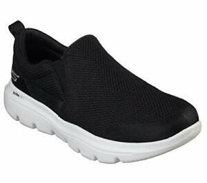 Skechers Men's Go Walk Evolution Ultra-Impeccable Sneaker, Black/White, Size