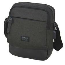 Men's Firetrap Mini Messenger Bag Flight Travel Bag Festival Retro Black Gift