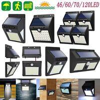 120 LEDs Outdoor Waterproof Solar Lights Garden PIR Motion Sensor Leuchtmittel