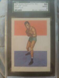 1956  Adventure 3 Card Lot JOE LOUIS  Max Baer & Bradock  #41/89/90 SGC &PSA 8