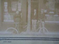 PHOTOGRAPHIE MAGASIN VELOCIPEDE CYCLES TANDEM 1900 BICYCLETTE