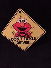 "Car Window Sign w/Suction Cup  Sesame Street Elmo ""Don't Tickle Driver"""