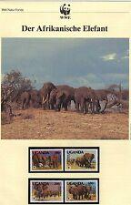 WWF, WNF Kapitel - Afrikanischer Elefant, UGANDA   1991