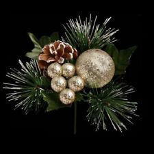 Ghirlande, corone e fiori natalizi oro