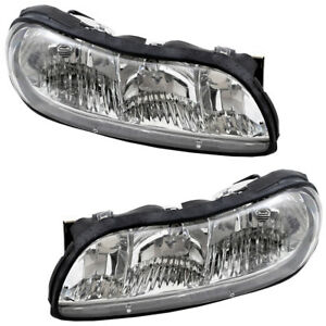 Pair Set Headlights Headlamps for Chevrolet Malibu & Classic Oldsmobile Cutlass