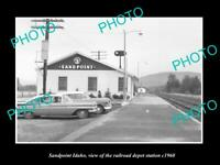 OLD 6 X 4 HISTORIC PHOTO OF SANDPOINT IDAHO THE RAILROAD DEPOT STATION c1960