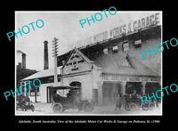 OLD LARGE HISTORIC PHOTO ADELAIDE SOUTH AUSTRALIA THE MOTOR CAR WORKS c1906