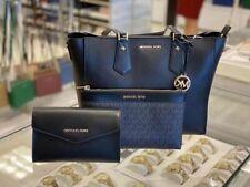 Новая с ценниками Michael Kors Кимберли 3 в 1 кожаная сумка через плечо сумка + кошелек сумка клатч