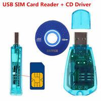 USB SIM Card Reader Writer Clone Copier Backup Adapter + Driver GSM 3G HY
