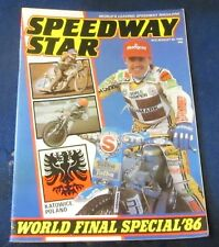 Speedway Star Magazine W/E 30th August 1986