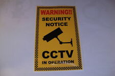 2 x CCTV Sicurezza operativa Adesivi Home Security polizia allarme finestra