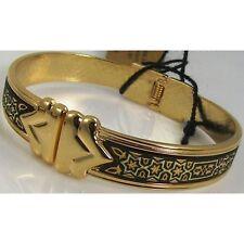 Damascene Gold Cuff Bracelet Star of David by Midas of Toledo Spain  style 2077