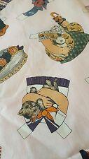 Wind ham  fabric PAPER DOLLs, pink  background RARE