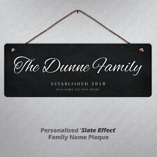 Personalised Sign Family Name Metal Hanging Plaque Custom Surname Home Fun Gift