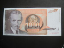 JUGOSLAVIA 1990 secondo numero - 1,000 Dinari - 26.11.90 P107-auncirculated