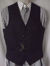 NEW Polo Ralph Lauren Navy Blue Waistcoat Wool & Linen Vest 38 R M RRP £195