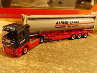 1/87 Herpa Volvo FH Flachdach Drucksilo Container SZ Alfred Talke 309363