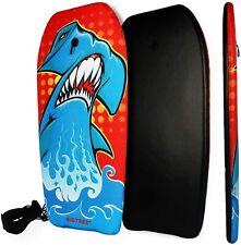 Bodyboard Kickboard Surfing Skimboard Wake Boogie Board Pool Toy Shark Medium 37