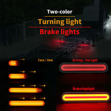 2x 12-24V LED Trailer Truck Stop Flowing Turn Signal Brake Rear Tail Light 3 in1