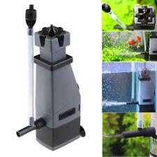 3W Aquarium Filter Surface Skimmer 300L/H 450L Pump Plant Freswater Marine Oil