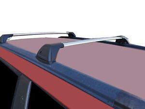 Aerodynamic Roof Rack Cross Bar for Subaru Forester 79V 97-2007 Alloy Flush End