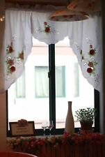 One Piece Beautiful Applique Embroidery Pink Rose Curtain Swag