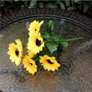 Artificial Fake Silk SunFlower Gerbera Table Hydrangea Home Wedding Garden Decor