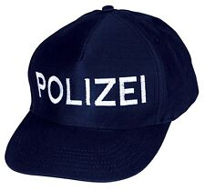 Kinder Baumwoll- Cap Baseballcap Kappe mit Einstickung Polizei 69XXX navy