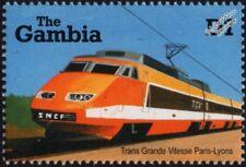 SNCF Train à Grande Vitesse (High Speed Train) TGV Paris-Lyons Train Stamp #1