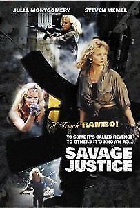Savage Justice - DVD - 1988 Julia Montgomery, Steven Memel 80's action movie