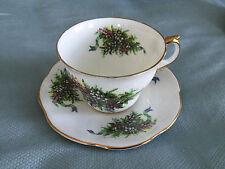 Vintage Regency / Rosini Bone China England Tea Cup & Saucer - Floral Heather