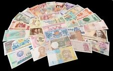 LOT DE 60 BILLETS MONDE UNC AU HASARD / 30 PAYS DIFFERENTS
