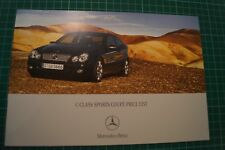 Mercedes-Benz C-Class Sports Coupe Price List Brochure 10/2006