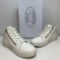 1585249 Steve Madden Mens Mover White Fashion Sneaker Size 11.5