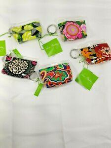 Vera Bradley Zippidy Keychain Pouch lot of 5 Assortment NWT