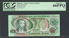Philippines 5 Piso ND (1978) P 160d Uncirculated Grade 66