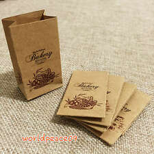5Pcs Dollhouse Miniature Kraft Paper Sacks Bag Bread Brotbeutel Scale Model