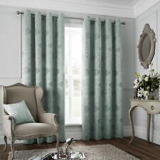 """Catherine Lansfield 46"""" x 72"""" Duckegg Eyelet Curtains Lined 46x72 ~ ONLY £14.99"""