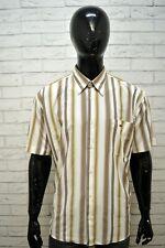Camicia TOMMY HILFIGER Uomo Taglia XXL Maglia Polo Manica Corta Cotone Righe